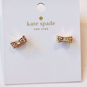 Kate Spade Gold Tone Bow Earrings